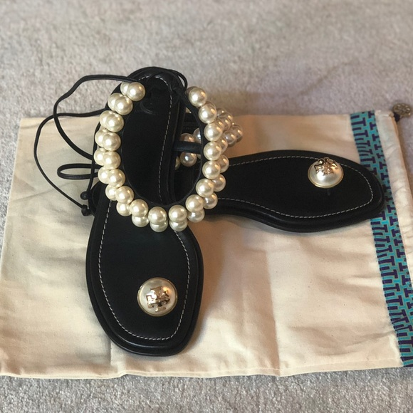 8295cd99597 Tory Burch Melody Ankle Strap Sandal - Pearl